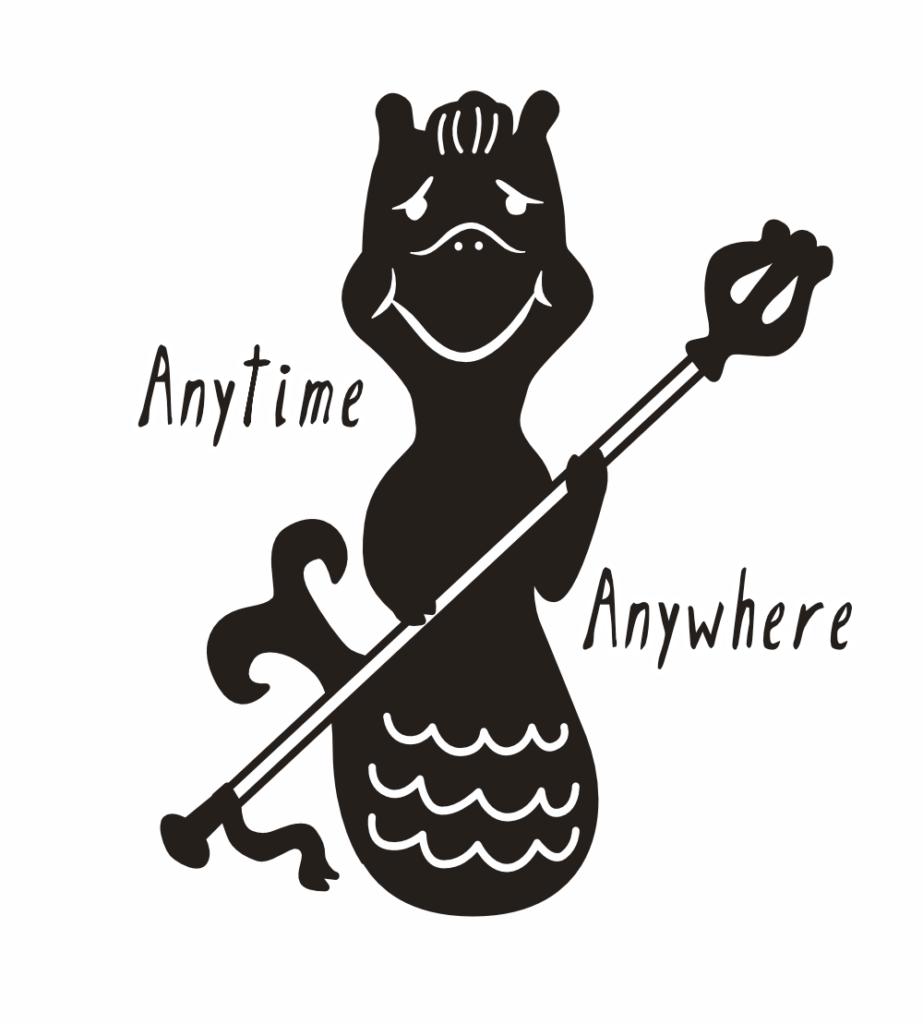 半身馬、半身魚の神獣HIPOKAMPOS(ヒポカンポス)がトレードマーク!